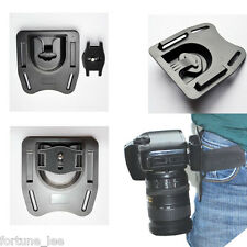 Quick Release Camera Holster Waist Belt Buckle Button Mount Clip For DSLR Camera