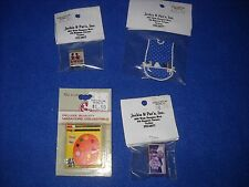 Miniature accessories: lot of 4 games and toys, 1:12 scale, Nib, lot #11