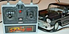 New Bright 57 Chevy Bel Air Remote Control Corded Rc Car 1986 Black Tested