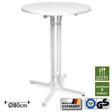 Stehtisch Klappbar Ø 80 cm weiß Bistrotisch Bartisch Tisch Klapptisch Partytisch