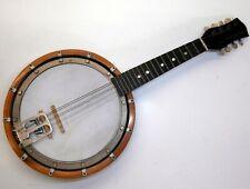 Vintage Banjo Mandolin Banjoline Solid Wood Resonator Short Neck 8 String Pearl