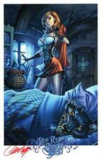 J SCOTT CAMPBELL LITTLE RED RIDING HOOD SDCC 2016 SIGNATURE EDITION ART PRINT