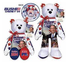 """Memorabilia G.W. Bush 2004 Campaign - 9"""" Plush Collectible Stuffed Teddy Bear"""