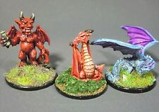 Dungeons & Dragons Miniatures Lot  Red Wyrmling Imp Demon Blue !!  s90