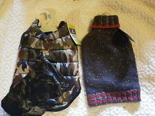 Top Paw Apparel Dogs Gray Red Sweater Size Small Brand NWT