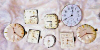5 VINTAGE & ANTIQUE WALTHAM, BENRUS, NORMAN AND GRUEN CURVEX WATCH MOVEMENTS