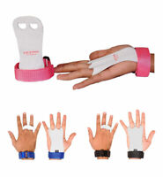 Kids Children Sizes gymnastic leather palm hand grips protectors junior