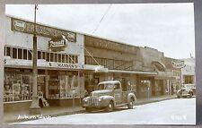 1930's AUBURN WASHINGTON street View #D121 PVC RPPC real photo postcard