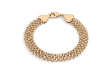 9ct Rose Gold 36 Garibaldi Chain Bracelet 19cm/7.5'