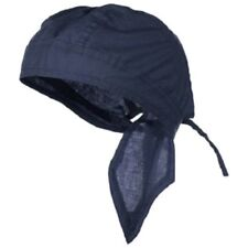 Solid Navy Blue Durag Doo Rag Skull Cap Headwrap Bikers Paintball Sport Bandanna