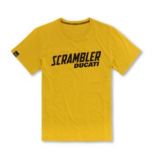 New Ducati Scrambler Milestone T-Shirt Men's S Yellow #987691883