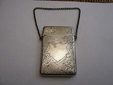 Antico Vintage Old Solido Argento Finissimo chiamare CARD CASE marcata 1904 67 G