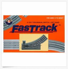 O-36 FasTrack Left Manual Switch Track Lionel 6-12017