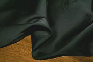 1M 'BLACK TWILL' Mid-Weight Viscose / Cotton Suiting Fabric with Give & Sheen
