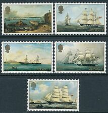 1985 JERSEY PAINTINGS OF BOATS BY P.J. OULESS SET OF 5 FINE MINT MNH/MUH