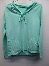 NWOT women's Fresh Produce mint light green pullover hoodie sweatshirt size M