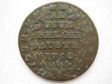 Austrian Netherlands 1750 (h) copper 2 Liards Antwerp F
