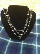 Costume Jewellery - Black and Gold Bead Effect Necklace