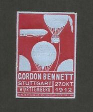 AVIATION Gordon Bennett Exhib Stuttgart 1912 Balloons Zeppelin MH Germany