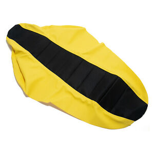 Black & Yellow Ribbed Seat Cover for Suzuki DRZ400S/E DRZ400SM 2000-2017