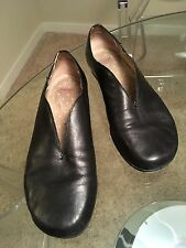 CAMPER Twins  Black Leather Shoes Flats Clogs Loafers Size 38 7