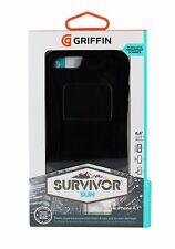 GRIFFIN Survivor Custodia Slim per Apple iPhone 6/6 S con protezione per lo schermo NERA