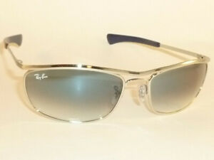 Ray Ban OLYMPIAN I DELUXE  Sunglasses Silver Frame RB 3119M 003/3F Gradient Blue