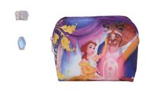 Beauty And The Beast Disney Ladies Makeup Zipper Bag Gold Foil Design Disney