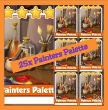 25 x Painters Palette Coin Master Cards (fast Delivery) Uk and worldwide