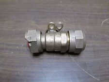 "MUELLER BALL VALVE 1"" W/ LOCK OUT HM/JJ BRASS NEW FREE SHIPPING"