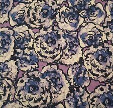 Cottage Garden BTY Alice Hickey FreeSpirit Hollyhock Floral Purple Periwinkle
