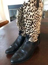 Vintage Women's Leather & Pony Skin Cowboy Boots - US7.5–EU 37 1/2 Made in Italy