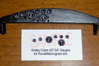 SHELBY COBRA 427 S/C RACING VERSION GAUGE FACES for 1/24 REVELL-MONOGRAM kits