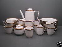 kaffeeservice teller tassen kahla porzellan 35 teilig goldrand porzellan ebay. Black Bedroom Furniture Sets. Home Design Ideas