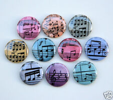 10 MUSIC NOTES COLORFUL Buttons Pinbacks Badges 1""