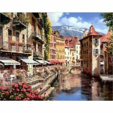 Landscape Oil Painting By Numbers Acrylic Canvas Picture Wall Art Wedding Decors
