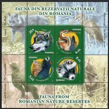 ROMANIA MNH 2011 FAUNA FROM ROMANIAN NATURE RESERVES