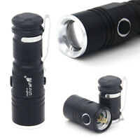 Ultrafire Flashlight Zoomable T6 LED 3Mode 30000LM Camping Light Mini Torch k