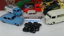 Lot de 24 Pneus Dinky toys 15/8 noir