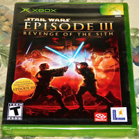 Star Wars Episode III Revenge of the Sith Xbox Sealed New Black label Game Torn