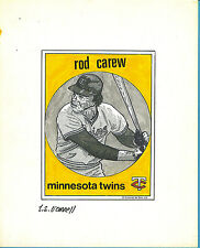 T.S. O'Connell Original Artwork - Baseball Greats - Rod Carew, Twins