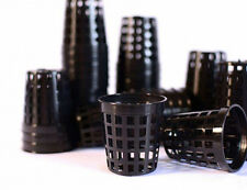 100 x Net Pots Mesh Teku Black Plastic 5cm Orchid Seedling Hydroponics