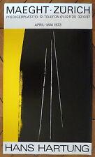 Hartung Hans Affiche offset 1973 art abstrait abstraction Lyrique Zurich Paris