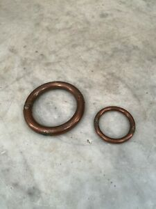 Couple of antique copper bull or bullock nose rings