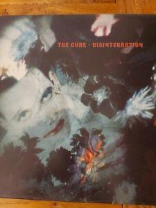THE CURE - DISINTEGRATION 1989 UK VINYL LP FICTION 1ST ORIGINAL V/G CONDITION
