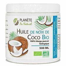 Huile de Coco Bio 500 ml Vierge Pure et Biologique Cheveux Massage corps Noix