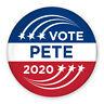 "3"" Political Campaign Pin - Vote Pete Buttigieg 2020 - Shooting Star Design"