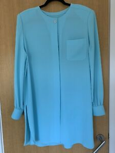 Duck Egg Blue Shirt Jacket approximate Size 18 / 20 Wedding Occasion