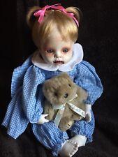 Haunted Creepy Porcelain Goth Scary Beanie Dead Doll Girl Decor OOAK Cute Evil