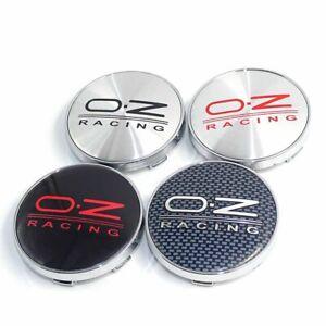 4pcs 60mm OZ Racing Logo Emblems Badges Car Wheel Rim Center Hub Caps 56mm Clips
